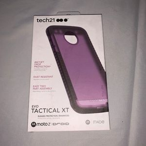 Tech 21 Moto Z Droid Purple Phone Case